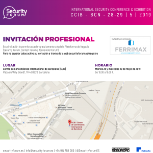 Invitación Ferrimax al Security Forum